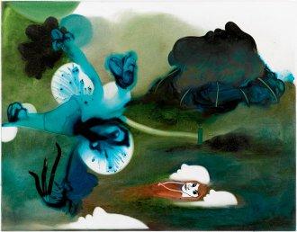 Blandt de levende, de døde og de ufødte 70 x 55 cm, akryl og olie på lærred, 2006