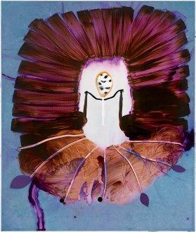 Det lille spøgelse 55 x 65 cm, akryl, spray and olie på lærred, 2006