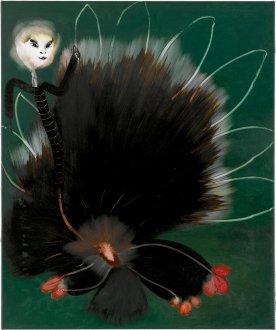 Hun var en kusse 50 x 60 cm, akryl, spray og olie på lærred, 2006