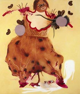 Moder af skyggelandet 170 x 200 cm, akryl og olie på lærred, 2009