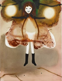 Hun kom med lyset 50 x 65 cmakryl og olie på lærred, 2008