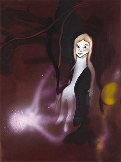 Det var blevet hendes tur 45 x 60 cm, akryl, spray og olie på lærred, 2009
