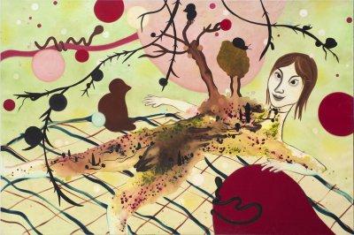 Moder Jord 200 x 300 cm, akryl og olie på lærred, 2011