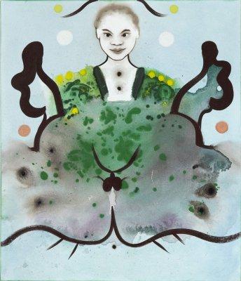 Det er en pige 70 x 60 cm, akryl og olie på lærred, 2011