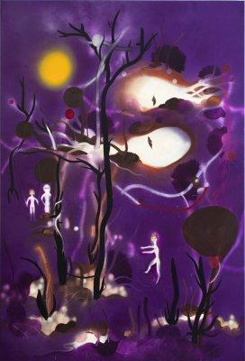 Mørke og lys 300 x 200 cm, akryl, spray og olie på lærred, 2011