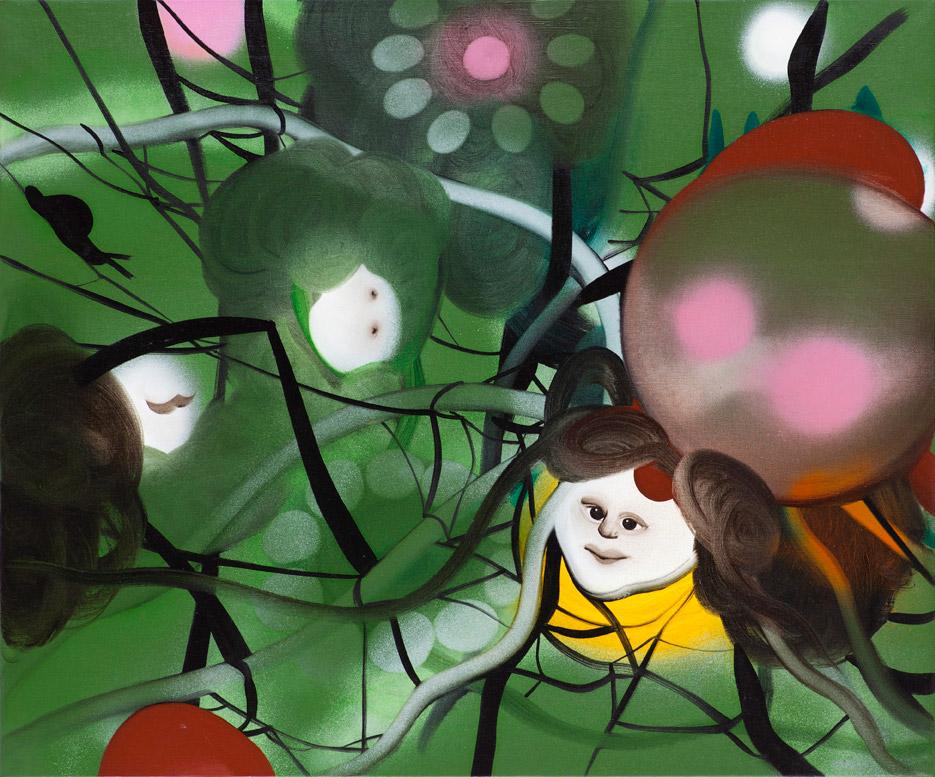 The play 85 x 100 cm, akryl og olie på lærred, 2012