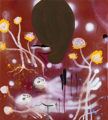 Det evige liv (brunt) 170x190 cm, akryl og olie på lærred, 2014
