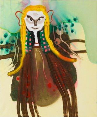 Hendes skæbne 50x60 cm, akryl og olie på lærred, 2014