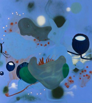 Det evige liv (lyseblå) 170x190 cm, akryl og olie på lærred, 2014