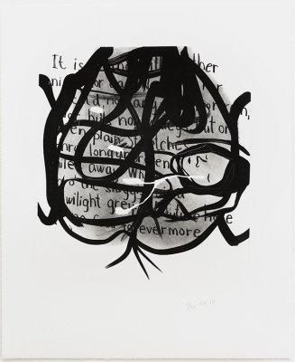 Uden titel 37x45, lithografi, 2014