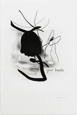 Uden titel 36,5x54,5cm, lithografi, 2014