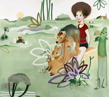 The girl and the animals