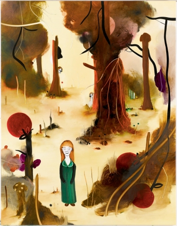 In the Cherry Wood 133 x 170 cm, oil on canvas, 2007