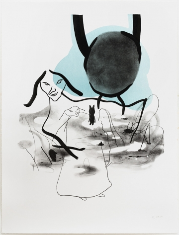 Without title 69,5x92cm, lithography, 2014