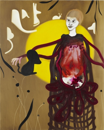 Her stomach was an oven that burned the world