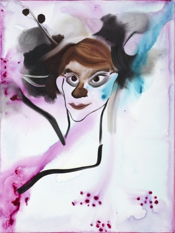 She flew 45 x 60 cm,acrylics and oil on canvas, 2009