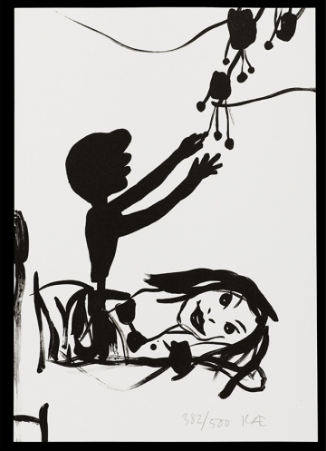 Without title A4, lithografi, 2004